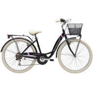 """Bicicleta ADRIATICA 18 Panda Lady 28"""" 6V negru 42 cm"""