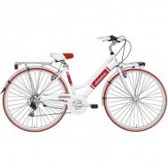 "Bicicleta ADRIATICA 18 Panarea Lady 28"" 6V alb/rosu 45 cm"
