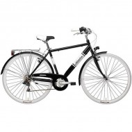 """Bicicleta ADRIATICA 18 Panarea Man 28"""" 6V negru/alb 50 cm"""