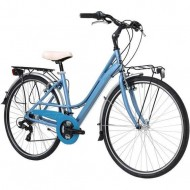 "Bicicleta ADRIATICA 18 Sity3 Lady 6V 28"" albastru 45 cm"