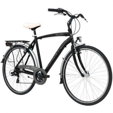 """Bicicleta ADRIATICA Sity3 Man 6V 28"""" negru 50 cm"""