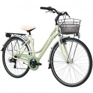 "Bicicleta ADRIATICA 18 Sity3 Lady 18V 28"" verde 45 cm"