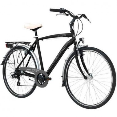 """Bicicleta ADRIATICA Sity3 Man 18V 28"""" negru 50 cm"""