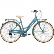 """Bicicleta ADRIATICA 18 Retro Lady 28"""" albastru 45 cm"""