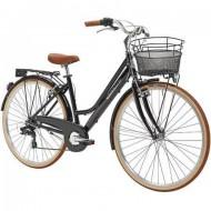 """Bicicleta ADRIATICA 18 Retro Lady 28"""" negru 45 cm"""