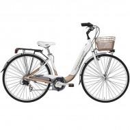 "Bicicleta ADRIATICA 18 Relax Lady 26"" alb/shampagne 45 cm"