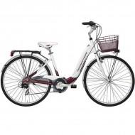 "Bicicleta ADRIATICA 18 Relax Lady 28"" alb/bordo 45 cm"