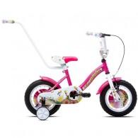 """Bicicleta CAPRIOLO Star Girl 12"""" roz/alb"""