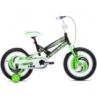"Bicicleta CAPRIOLO Mustang 16"" negru/verde/alb"