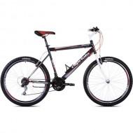 "Bicicleta CAPRIOLO Passion Man 26"" negru/alb/rosu 21"""