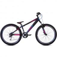 """Bicicleta CAPRIOLO Fireball 26"""" negru/roz/albastru"""