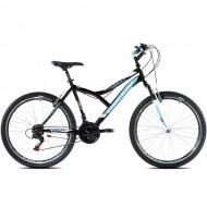 """Bicicleta CAPRIOLO Diavolo 600 FS 26"""" negru/albastru M 17"""""""