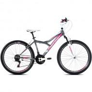 """Bicicleta CAPRIOLO Diavolo 600 FS 26"""" gri/roz M 17"""""""