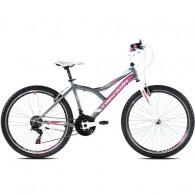 "Bicicleta CAPRIOLO Diavolo 600 26"" gri/roz M 17"""