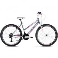 "Bicicleta CAPRIOLO Passion Lady 26"" gri/alb/roz 19"""