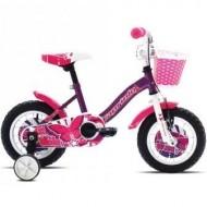 "Bicicleta CAPRIOLO Viola Girl 12"" mov/roz/alb"