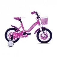 "Bicicleta CAPRIOLO Viola Girl 12"" roz/mov/alb"