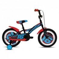 "Bicicleta CAPRIOLO Mustang 16"" negru/albastru/rosu"