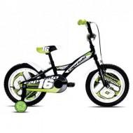"Bicicleta CAPRIOLO Mustang 16"" negru/verde"