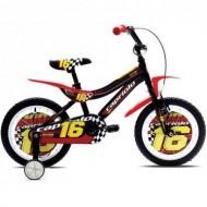 "Bicicleta CAPRIOLO Kid 16"" negru/rosu/galben"