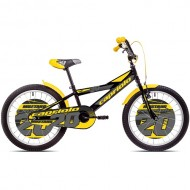 "Bicicleta CAPRIOLO Mustang 20"" negru/galben/gri"