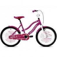 "Bicicleta CAPRIOLO Viola Girl 20"" mov/roz/alb"