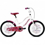 "Bicicleta CAPRIOLO Viola Girl 20"" alb/mov"