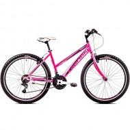 "Bicicleta CAPRIOLO Passion Lady 26"" roz/alb 17"""