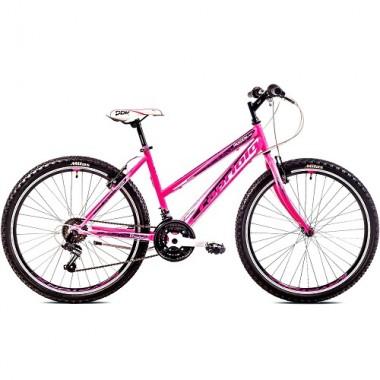 "Bicicleta CAPRIOLO Passion Lady 26"" roz/alb 19"""