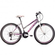 "Bicicleta CAPRIOLO Passion Lady 26"" gri/roz/alb 17"""