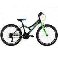 """Bicicleta CAPRIOLO Diavolo 400 24"""" negru/verde"""