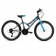"Bicicleta CAPRIOLO Diavolo 400 24"" gri/albastru"