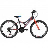 "Bicicleta CAPRIOLO Diavolo 400 24"" gri/rosu"