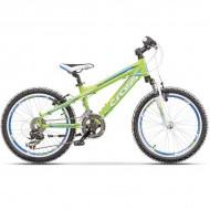 """Bicicleta CROSS Gravito 20"""" verde/albastru/alb 29 cm"""