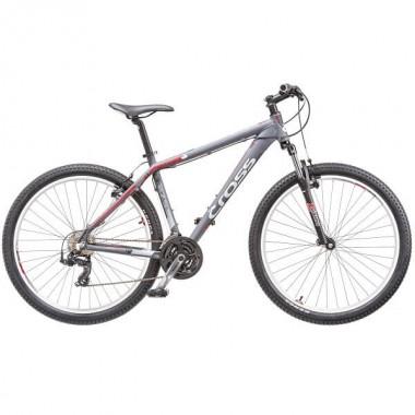 "Bicicleta CROSS Grx 26"" gri/rosu/alb 51 cm"