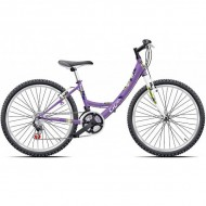 "Bicicleta CROSS Alissa 24"" mov"