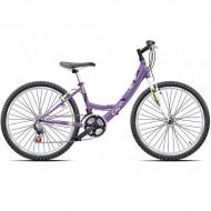 "Bicicleta CROSS Alissa 24"" mov"