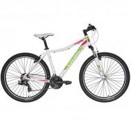 "Bicicleta CROSS Fusion Lady 27.5"" alb/roz/verde 40 cm"