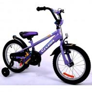"""Bicicleta CROSS Daisy 16"""" mov/portocaliu"""