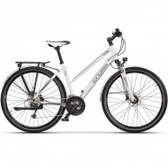 "Bicicleta CROSS Legend Lady Trekking 28"" alb/gri 44 cm"