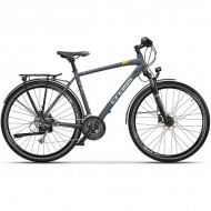 "Bicicleta CROSS Avalon Man Trekking 28"" gri/alb 48 cm"