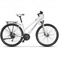 "Bicicleta CROSS Amber Lady Trekking 28"" alb/albastru 44 cm"