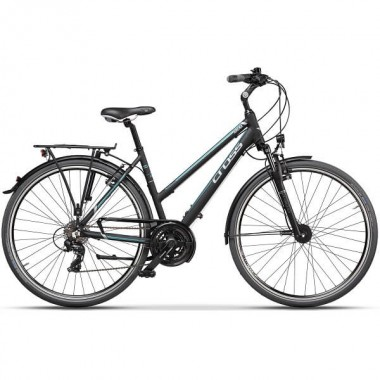 "Bicicleta CROSS Arena Lady Trekking 28"" negru/albastru 48 cm"