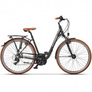 "Bicicleta CROSS Arena Low Step Trekking 28"" negru/maro 46 cm"