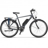 "Bicicleta CROSS Electrica Elegra City Man 28"" gri/negru 60 cm"