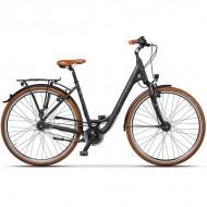 "Bicicleta CROSS Citerra Low Step 28"" negru/portocliu 45 cm"