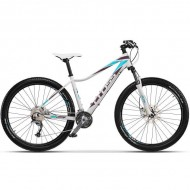 "Bicicleta CROSS Fusion Lady 27.5"" alb/mov/albastru 40 cm"