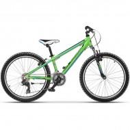 """Bicicleta CROSS Speedster 24"""" verde 30 cm"""