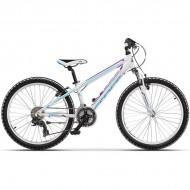 """Bicicleta CROSS Speedster 24"""" alb/albastru/mov 30 cm"""