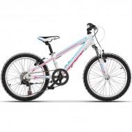 """Bicicleta CROSS Speedster 20"""" alb/albastru/roz 26 cm"""